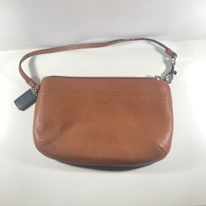 Coach brown clutch wristlet bag